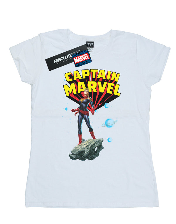 Marvel Women's Captain Marvel Space Pose T-Shirt