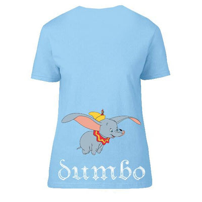 Official Disney Women Jumping Dumbo T-shirt
