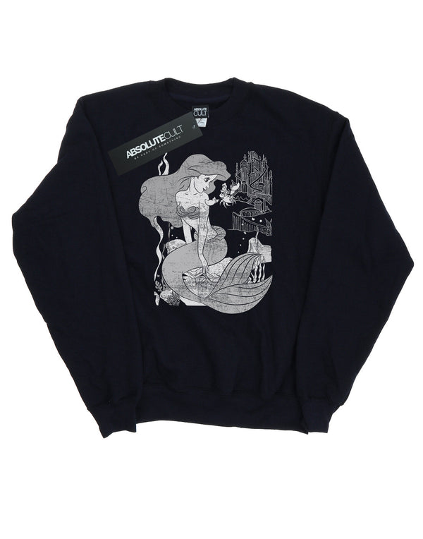 Disney Women's Princess The Little Mermaid Sweatshirt - coolulu.com