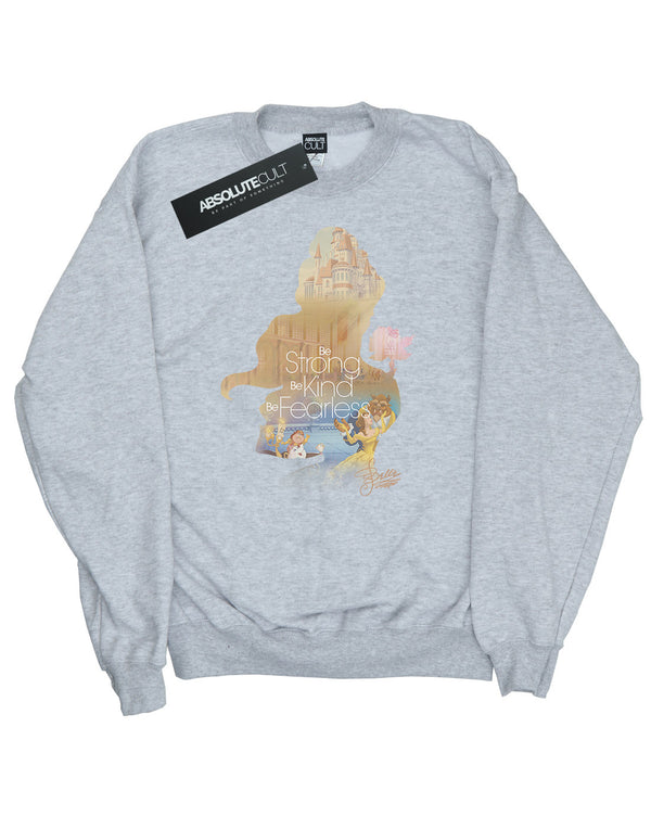Disney Women's Princess Belle Filled Silhouette Sweatshirt - coolulu.com