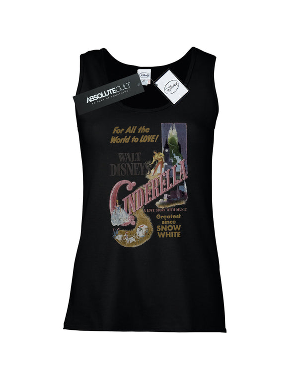 Disney Women's Princess Cinderella Retro Poster Vest