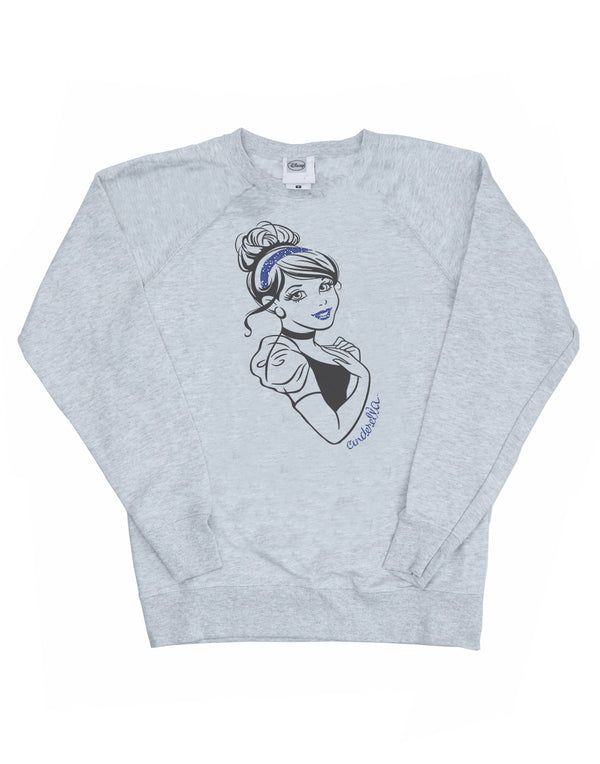 Disney Women's Princess Cinderella Glitter Sweatshirt