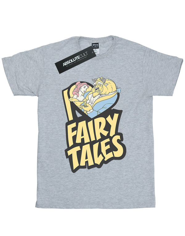 Disney Girls Beauty and the Beast I Love Fairy Tales T-Shirt - coolulu.com