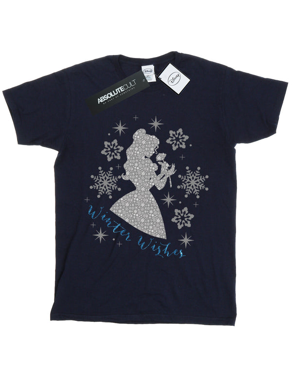 Disney Girls Princess Belle Winter Silhouette T-Shirt