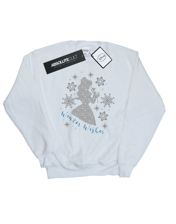 Disney Women's Princess Belle Winter Silhouette Sweatshirt - coolulu.com