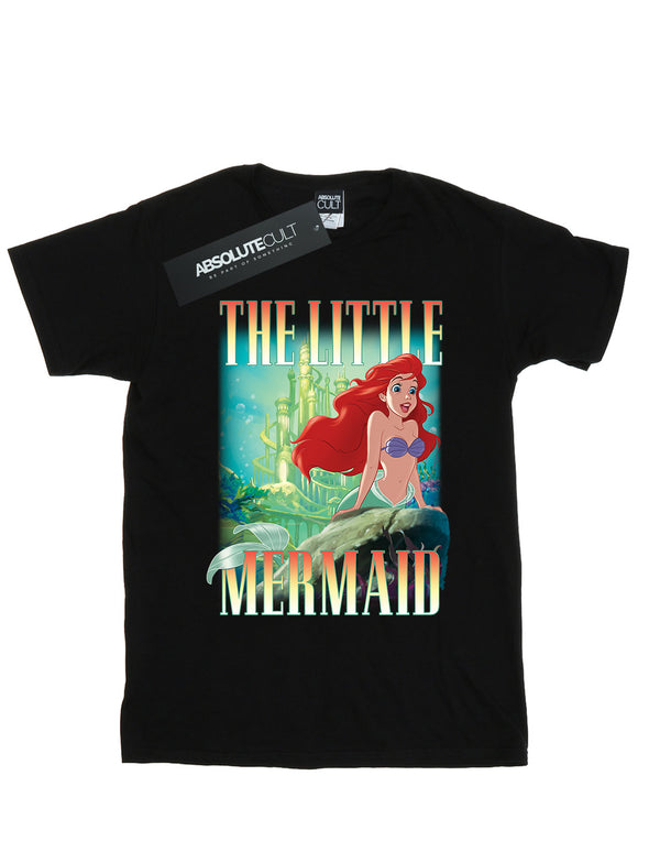 Disney Women's The Little Mermaid Ariel Montage Boyfriend Fit T-Shirt