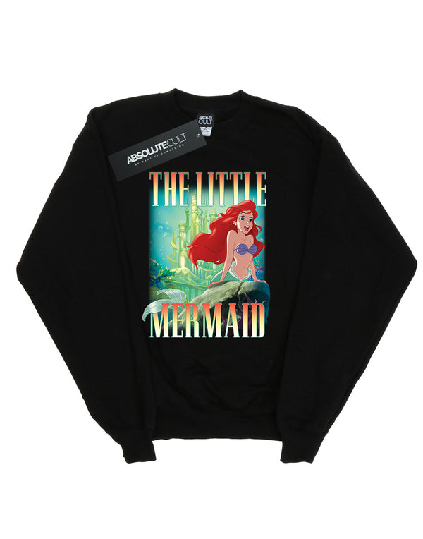 Disney Women's The Little Mermaid Ariel Montage Sweatshirt