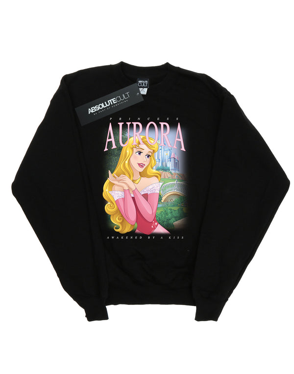 Disney Women's Sleeping Beauty Aurora Montage Sweatshirt