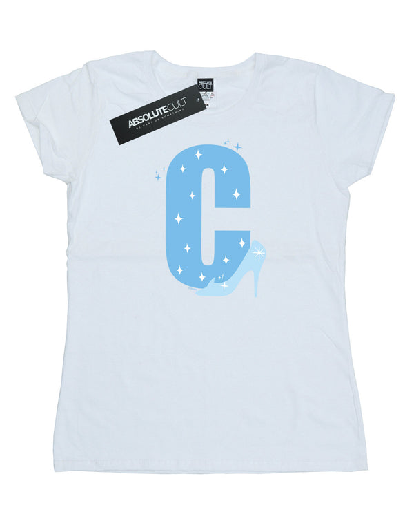 Disney Women's Alphabet C Is For Cinderella T-Shirt - coolulu.com