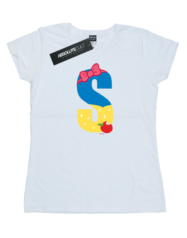 Disney Women's Alphabet S Is For Snow White T-Shirt - coolulu.com