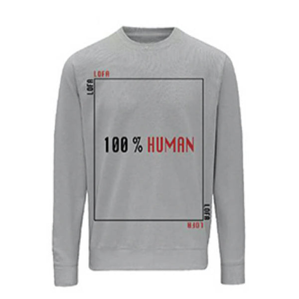 LOFA Heather Grey 100% Human Sweatshirt