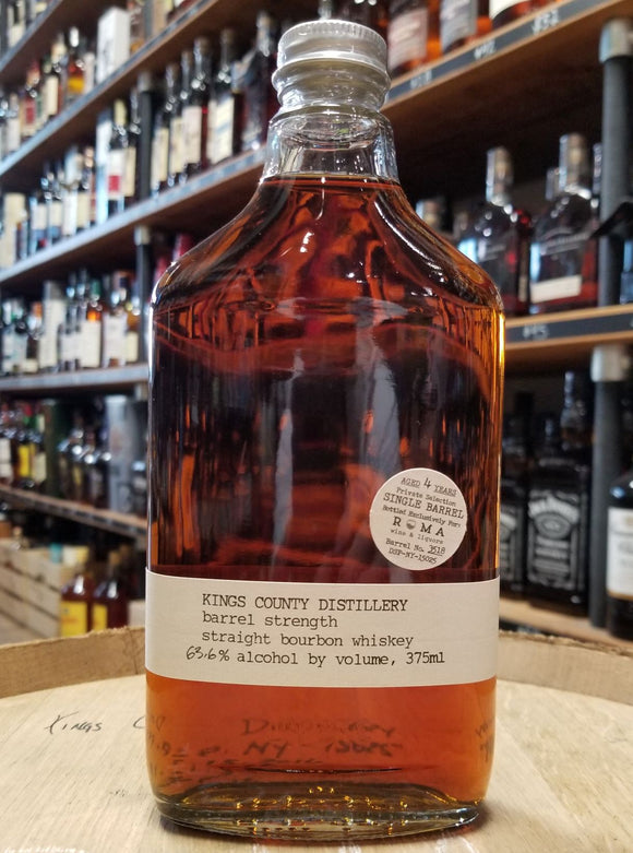 Kings County Distillery & Roma Wines / Single Barrel Cask Strength Bourbon  / 375mL