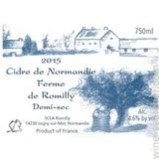 Ferme de Romilly / Cidre De Normandie Demi-Sec / 750mL