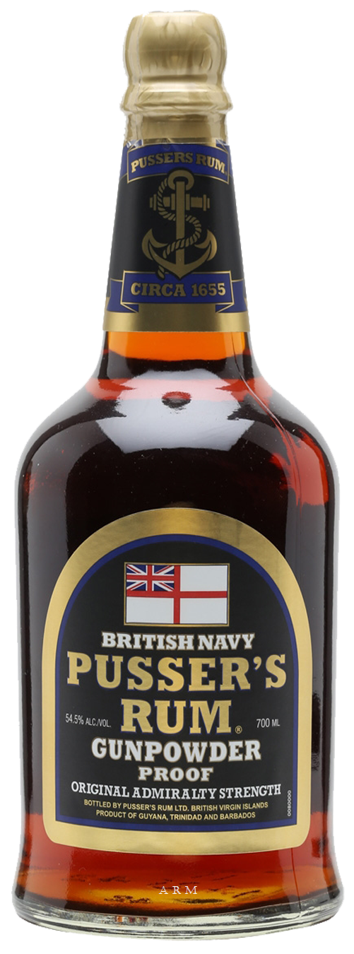 Pusser's Rum / Gunpowder Proof / 750mL