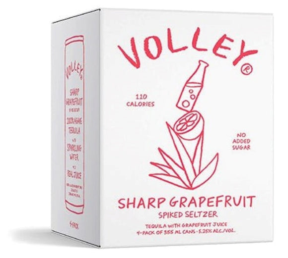 Volley / Sharp Grapefruit Spiked Seltzer with 100% Agave Tequila / 4PACK