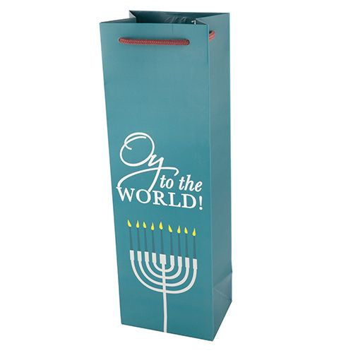 Oy to the World Single Bottle Wine Bag