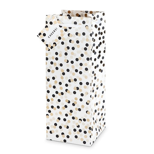 Tuxedo Dots Liquor And Champagne Bag