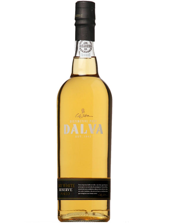 Dalva / White Porto / 750mL / Golden yellow color with aromas of preserved fruit, baked apples and dried flowers. Full-bodied and smooth, with a lingering finish. Superb with New York Cheese Cake or homemade flan.