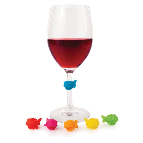 Guppy: Silicone Wine Charms