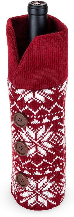 Wool Holiday Wine Sweater