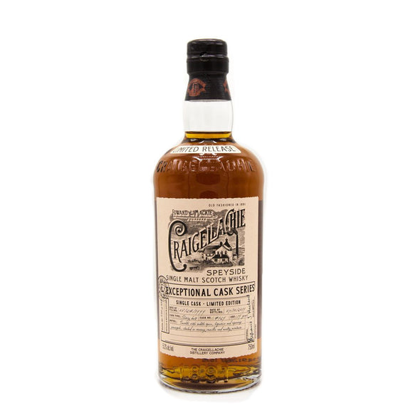 Craigellachie / 19 year Exceptional Cask Sherry Butt / 750mL / Limit 1 Per Customer
