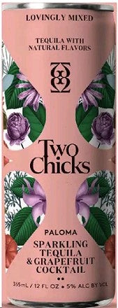 Two Chicks / Sparkling Paloma Tequila Grapefruit Cocktail / 355mL