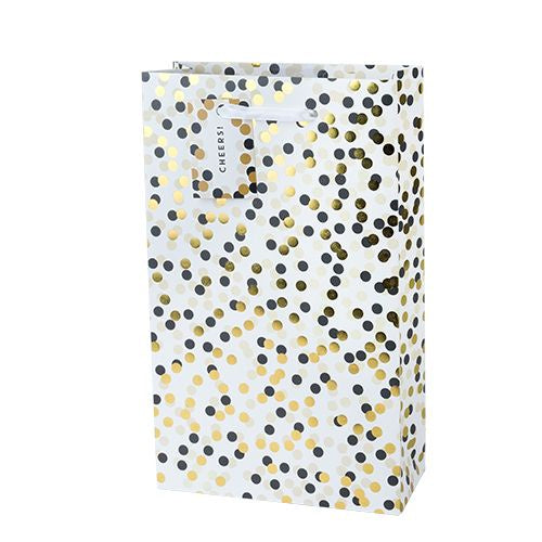 Tuxedo Dot Double Wine Bag