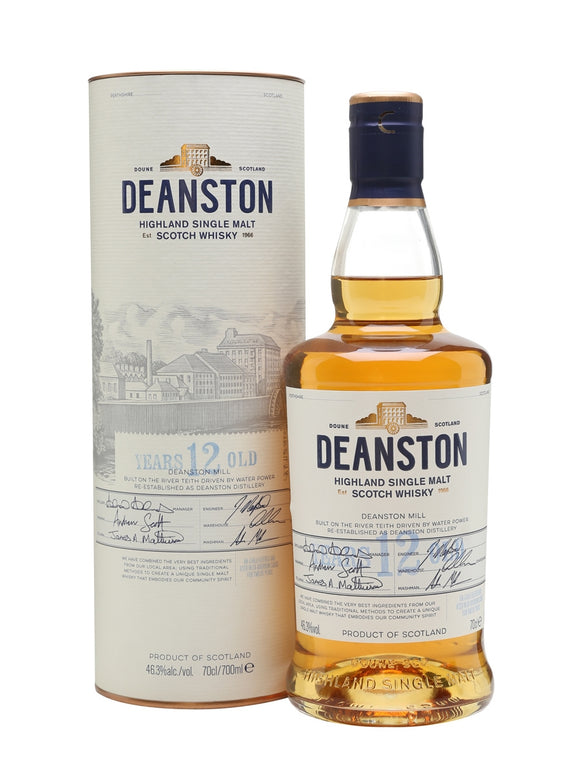 Deanston / 12 Years Old Highland Single Malt Scotch Whisky / 750mL