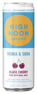 High Noon / Black Cherry Vodka & Soda / 355mL