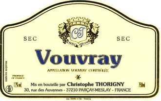 Christophe Thorigny / Vouvray Sec / 750mL