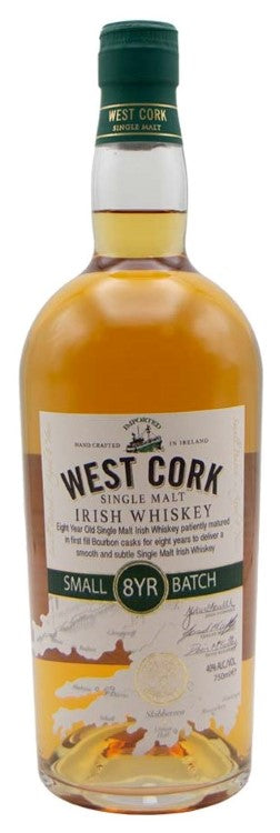 West Cork / 8 Year Small Batch Single Malt  Irish Whiskey / 750ml