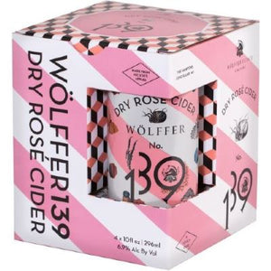 Wolffer No. 139 / Dry Rose Cider / 4-pack 10oz Cans | 296ml