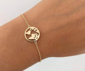 Luxury World Map Bracelet