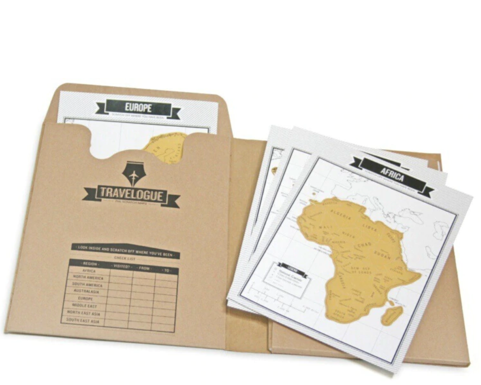 Travel Scratch Map Notebook - Gift | Travel Gifts | Travel Entertainment