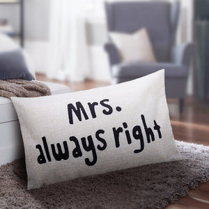 Mr & Mrs Pillow wedding gift | Gift for a married couple