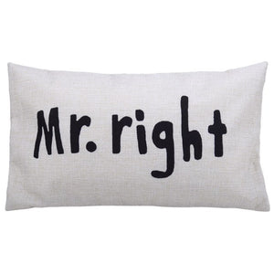 Mr right Pillow wedding gift | Gift for a married couple