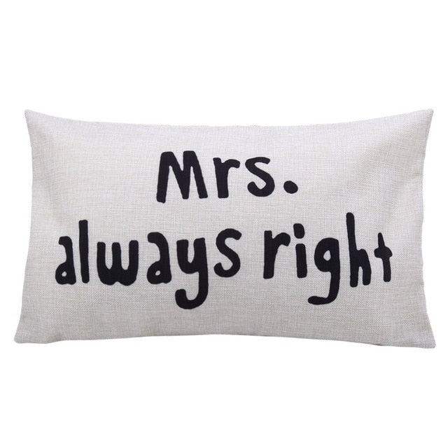 Mrs always right Pillow wedding gift | Gift for a married couple