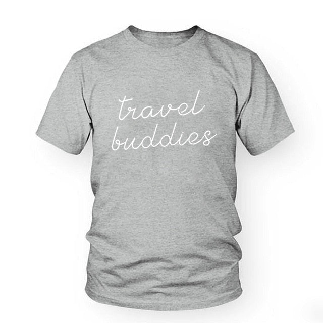Grey Travel Buddies T-Shirt | Travellers Gift | Adventure T-shirts | Wanderlust Clothing