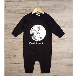 Black Slogan Long Sleeve Baby Romper | Newborn Gift's