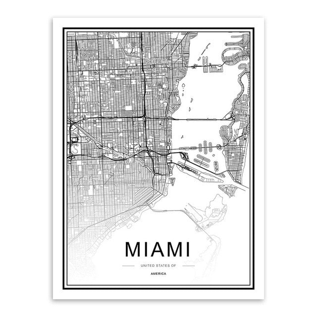 Famous World City's Map Canvas | Affordable Wall Art