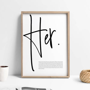 Her Canvas Wall Art for your Home