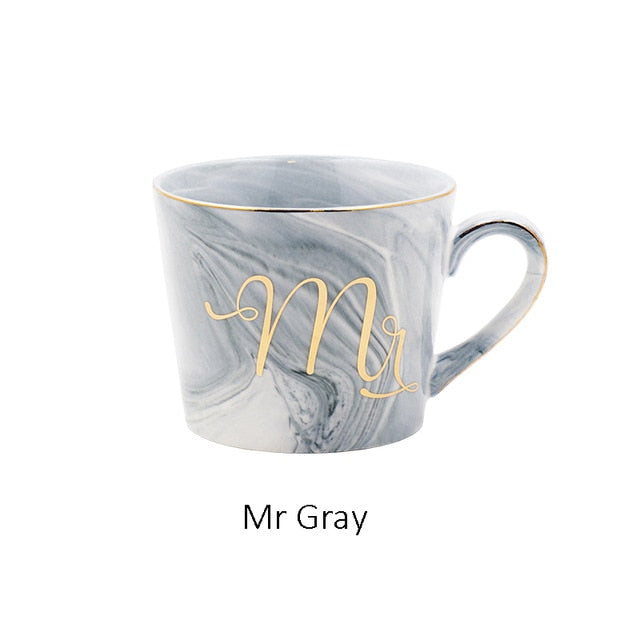 Grey Mr & Mrs Ceramic Mugs | Ideal & Affordable Wedding Gift
