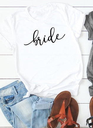 White Bride T-shirt's | Wedding Party Accessories