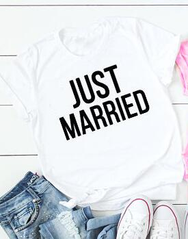 Just married white T-shirt | Honeymoon clothing