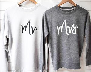 Mr and Mrs Honeymoon Sweatshirt | Perfect wedding gifts