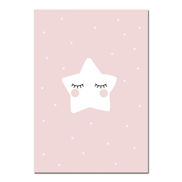 Pink Star Nursery Quote Poster | Affordable wall art