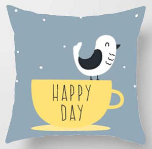 Happy day bird Pillow | Nursery Cushion | Children's Cushion