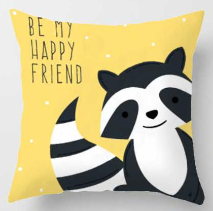 be my happy friend Pillow | Nursery Cushion | Children's Cushion