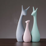 Nordic Ceramic Animal Ornaments | Pastel coloured home ornaments