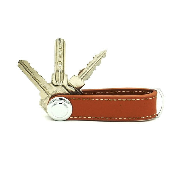 Brown Smart Key Wallet | Stylish Keyring Gift